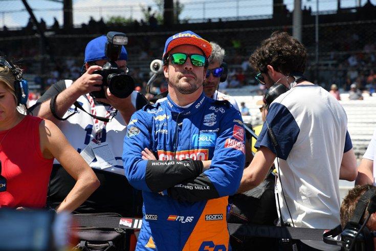 Fernando Alonso az Indy 500 rajtrácsán