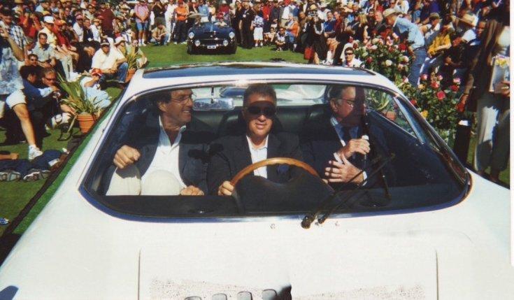 Luigi Chinetti Jr. a Ferrari 365 P Berlinetta Speciale volánja mögött