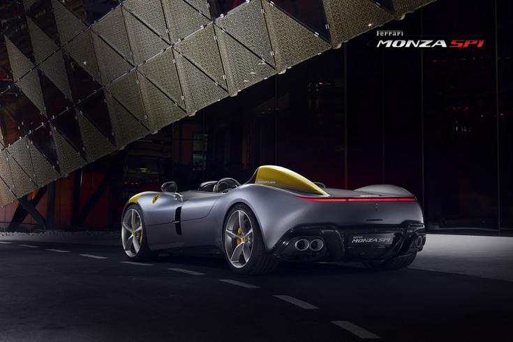 Ferrari monza SP1 hátulról