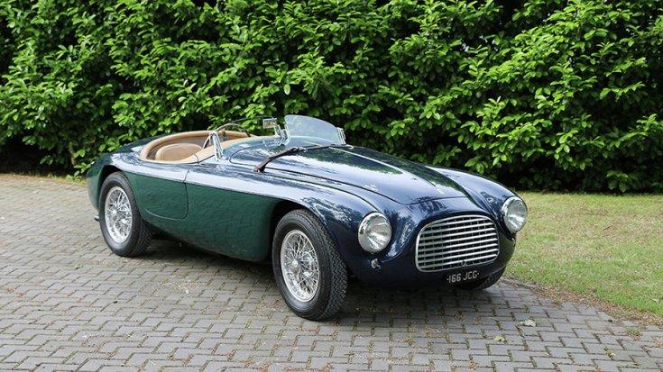 Az 1948-as Ferrari 166 MM szemből