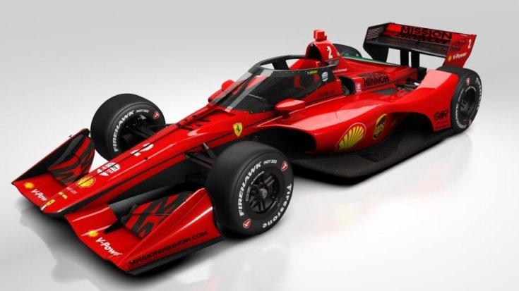 Ferrari IndyCar látványterv szemből