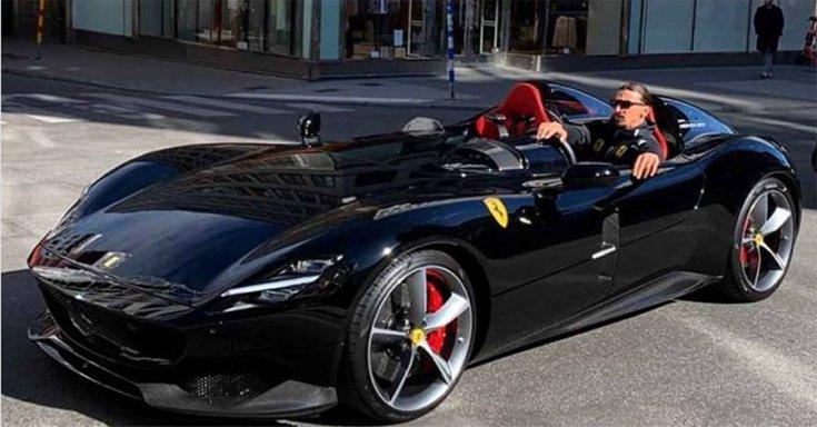 Ibrahimovic fekete Monza SP2-je