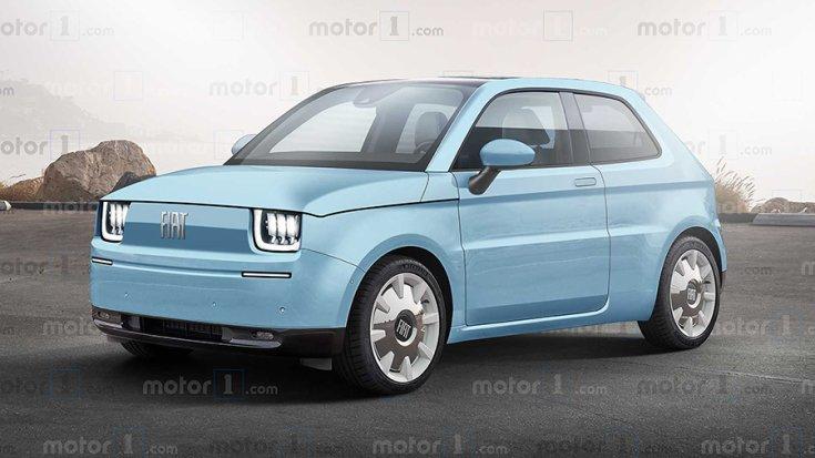 Az új elektromos Fiat 126 renderelt képe