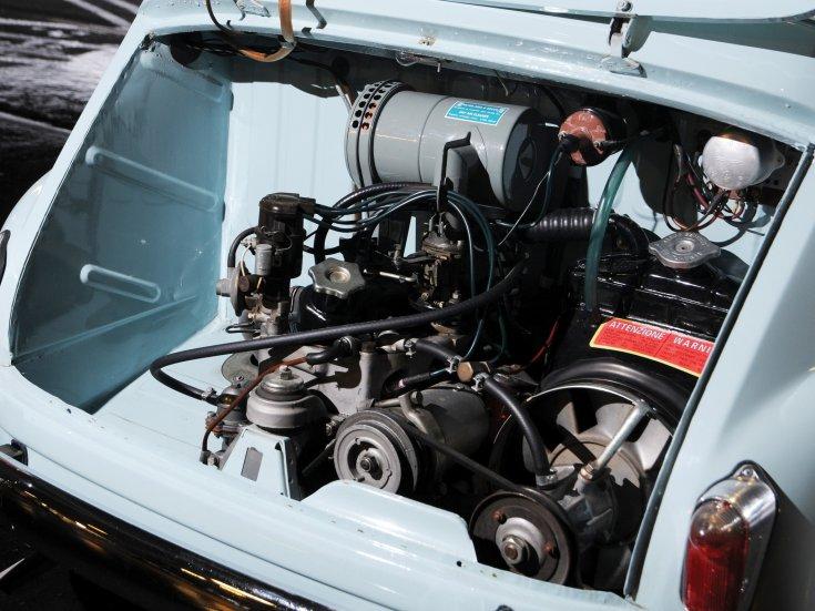 Fiat 600 Multipla, motortér