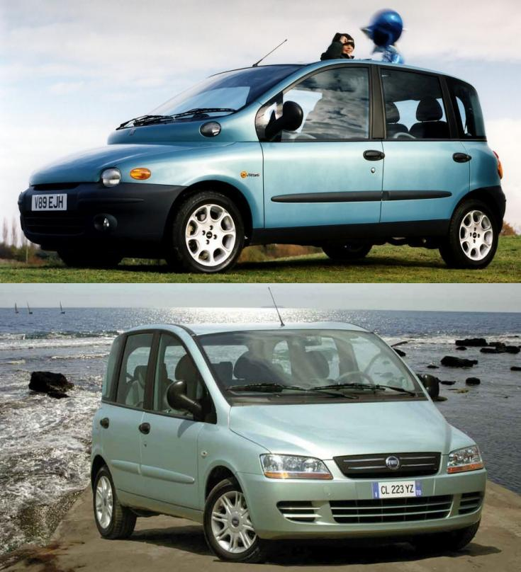 régi és faceliftes Fiat Multipla