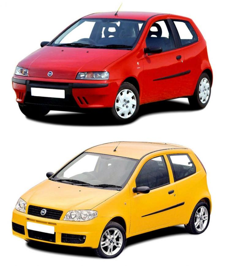 régi és ráncfelvarrott Fiat Punto