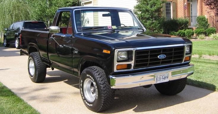 1980 Ford F-150 F series pick up, fekete, oldalnézet, balról