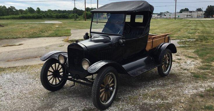 Ford Model T pick up truck, Model TT, fekete, oldalnézet, jobbról