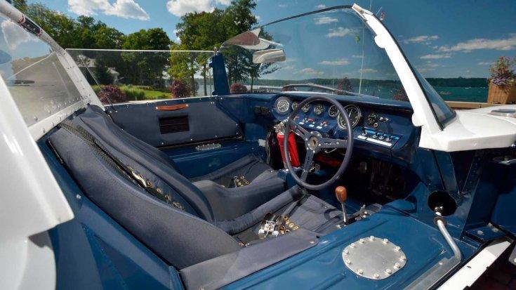 1965-ös Ford GT versenyautó prototípusa belülről