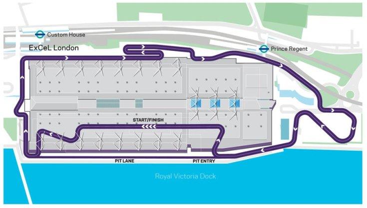 a tervezett londoni Formula E pálya