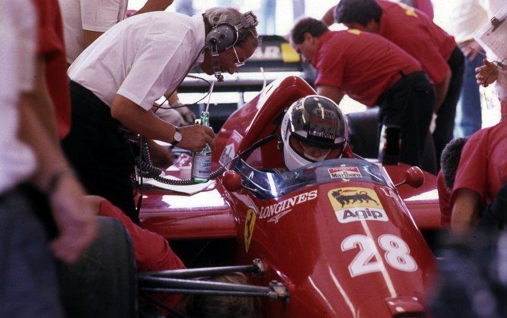 Formula-1 első magyar nagydíj, Stefan Johansson a Ferrari csapat versenyzője