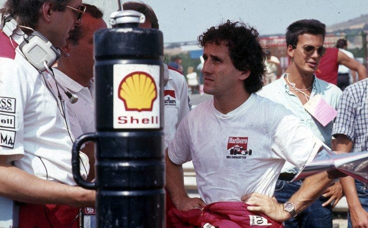 Formula-1 első magyar nagydíj, Alain Prost a McLaren-TAG csapat versenyzője