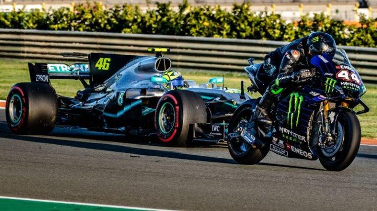Hamilton motorral, Rossi F1-es kocsival