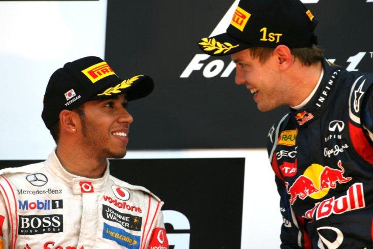 Lewis Hamilton és Sebastian Vettel ketten együtt 11 világbajnoki címnél járnak
