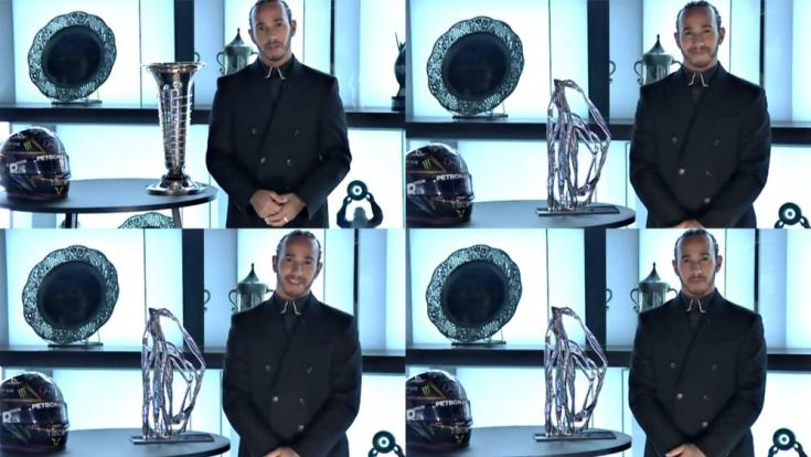 Hamilton az FIA online díjkiosztóján