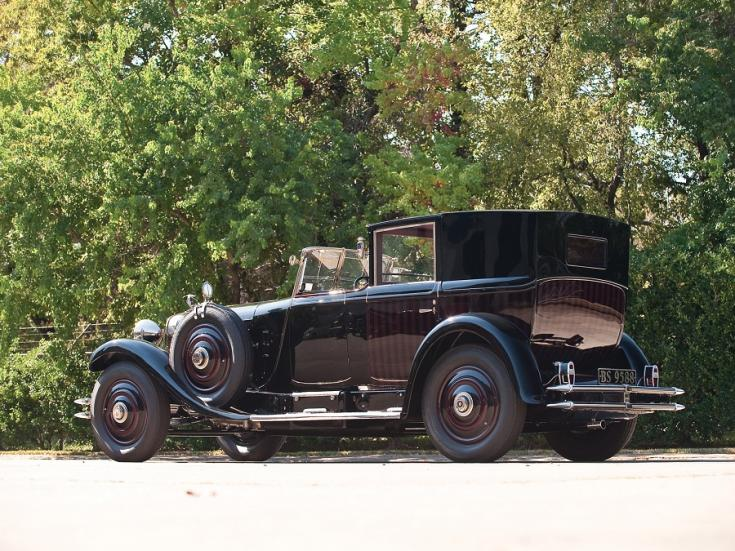 1919 1924 Hispano-Suiza H6B, salamanca, luxus limuzin, fekete, hátulnézet, balról, RM Sotheby's