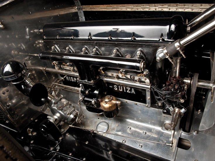 1919 1924 Hispano-Suiza H6B, salamanca, motor, oldalnézet, balról, RM Sotheby's