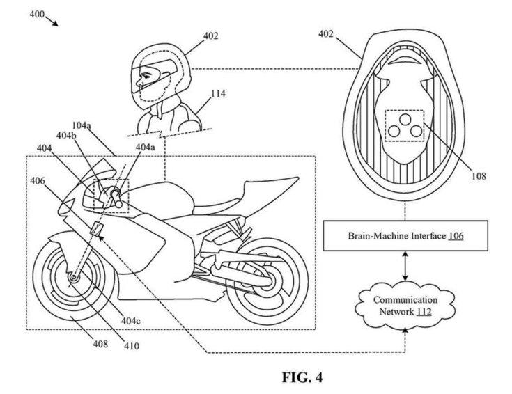 a Honda szabadalma, a sisakba épített érzékelők és az agy-gép interfész bemutatása