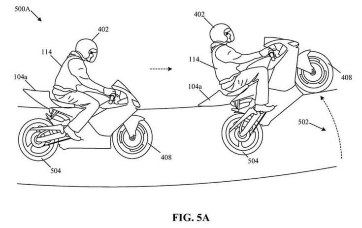 wheelie (egykerekezés) bemutatása a Honda szabadalmában
