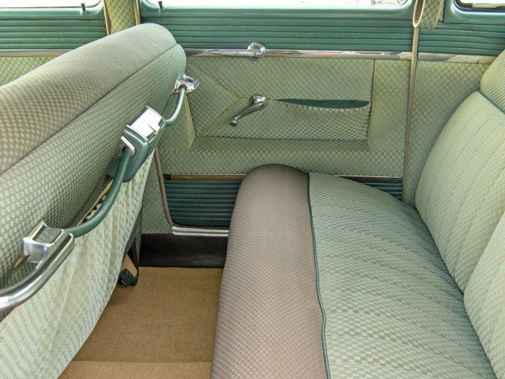 1951 1954 Hudson Hornet, amerikai autó, szedán, almazöld, hátsó üléssor, oldalnézet, balról, RM Sotheby's