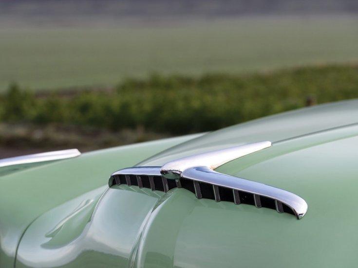1951 1954 Hudson Hornet, amerikai autó, szedán, almazöld, vezérsík, elölnézet, oldalról, balról, RM Sotheby's