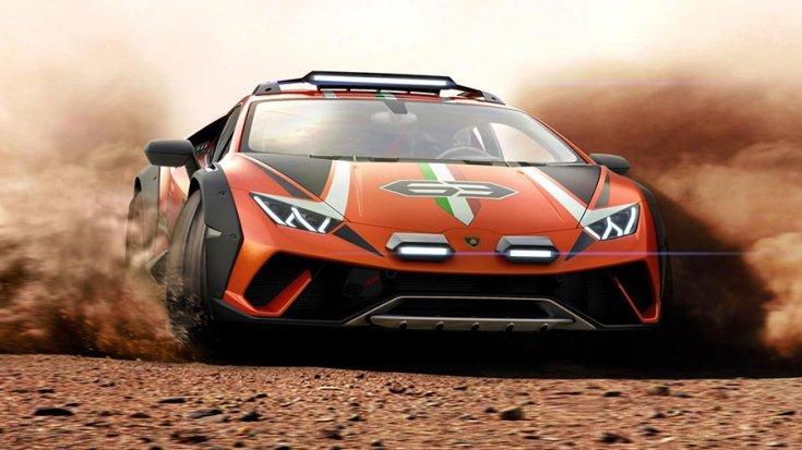Lamborghini Huracán 'Sterrato' szemből drift közben