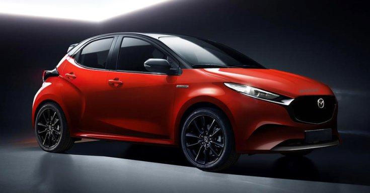 Mazda Yaris oldalról