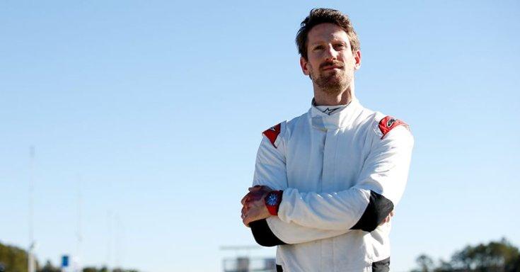 Romain Grosjean IndyCar szerelésben, szemből