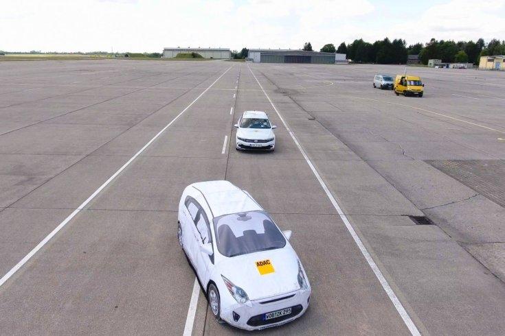 Az EuroNCAP tesztjén a Volkswagen Passat