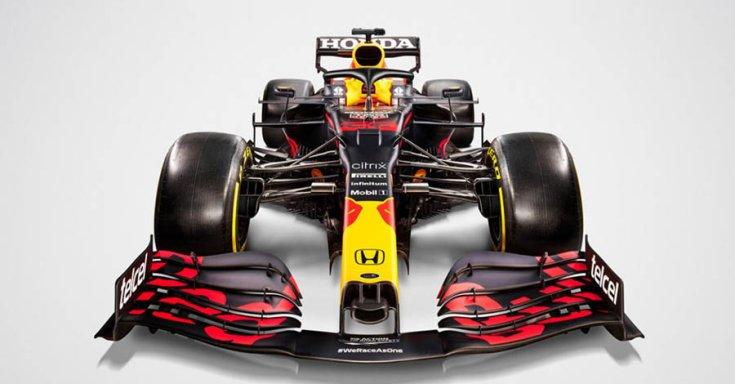 Red Bull RB16B modell szemből