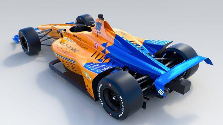 McLaren Indy 500-as versenyautója hátulról