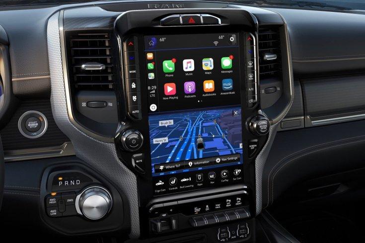 Dodge Ram infotainment rendszere közelről