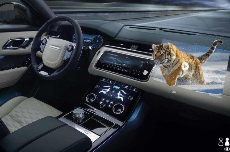 Jaguar Land Rover 3D head-up display