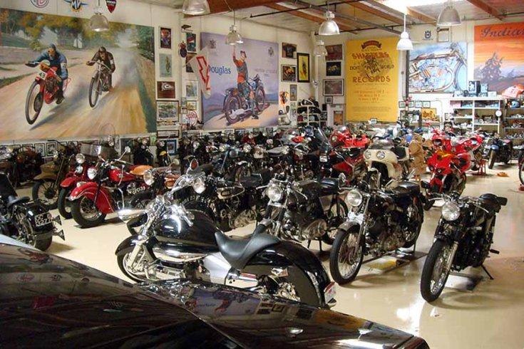 Motorok Jay Leno garázsában