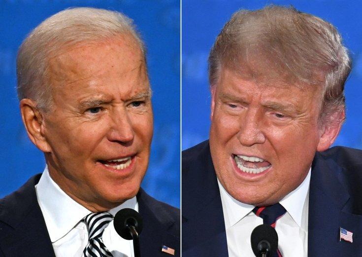 Joe Biden (balra) és Donald Trump