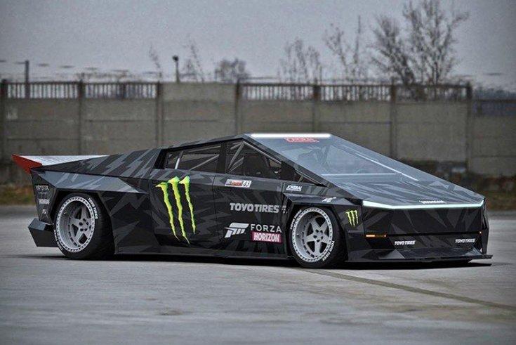 Jon Sibal automotív munkája egy Tesla koncepción