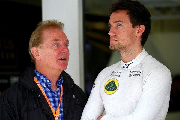 Jonathan és Jolyon Palmer az egyik F1-es versenyen