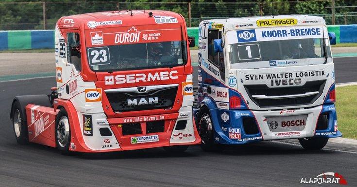csata a hungaroringi Kamion EB