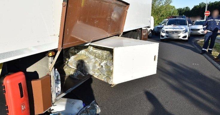 Marihuána a kamionban