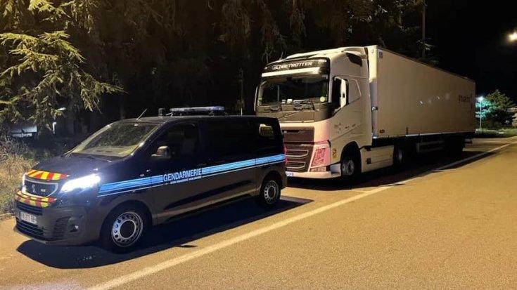 Ellenőrzés alá vont kamion