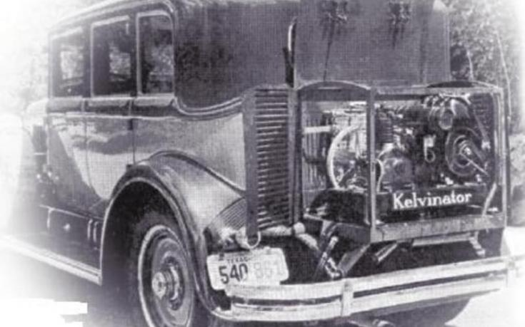 A Kelvinator első, autóra szerelt klímaberendezése 1930-ból