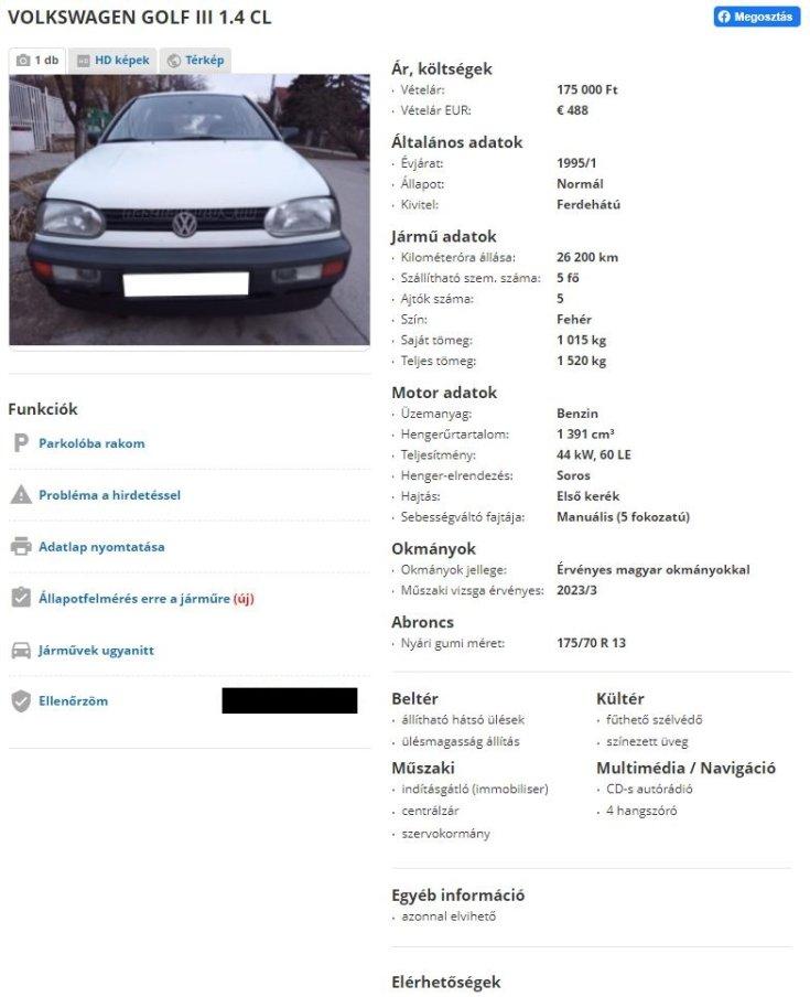 VW autós hirdetés