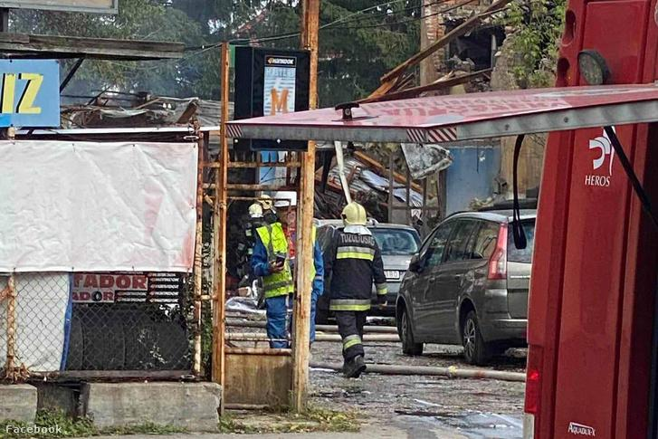Felrobbant autószerviz Kispesten