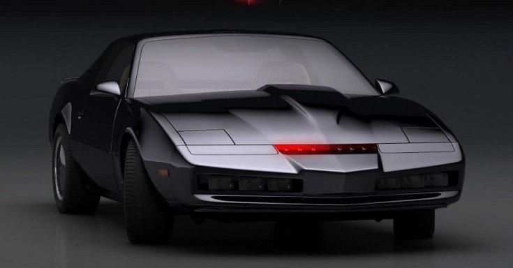 A Knight Rider sorozat autója, fekete Pontiac Trans Am, előlnézet