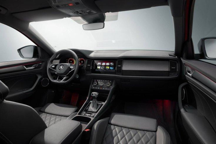 Frissített Škoda Kodiaq utastere