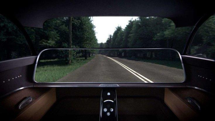 Kyocera Moeye koncepció autó belső tere az áttetsző képernyővel és A oszloppal