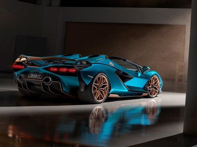 Lamborghini Sián Roadster hátulról
