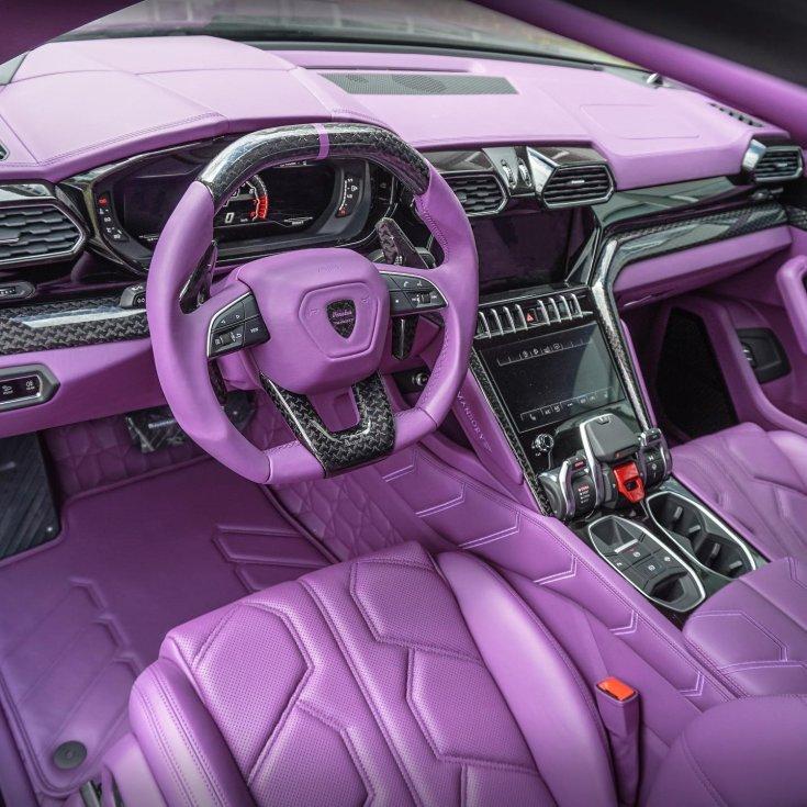A tuningon átesett Lamborghini Urus utastere