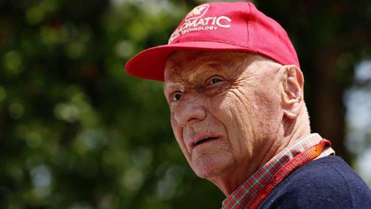 Niki Lauda közelről fotózva