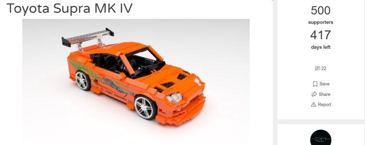LEGO Supra Mk4 online szavazófelület